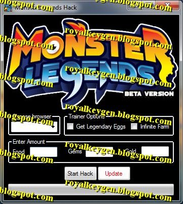 Royal Cheats: Monster Legends Hack Tool [FREE Download] [2013]