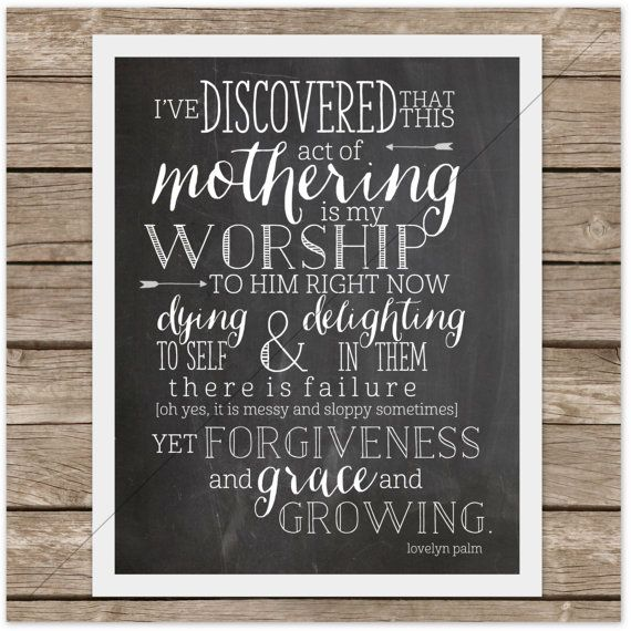 Mother's Day Print Printable Motherhood Act of by wè