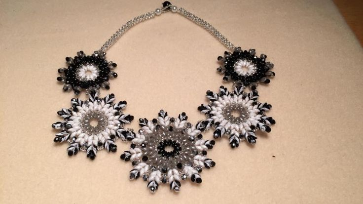 Snowflake Medallion Necklace  by bojanli