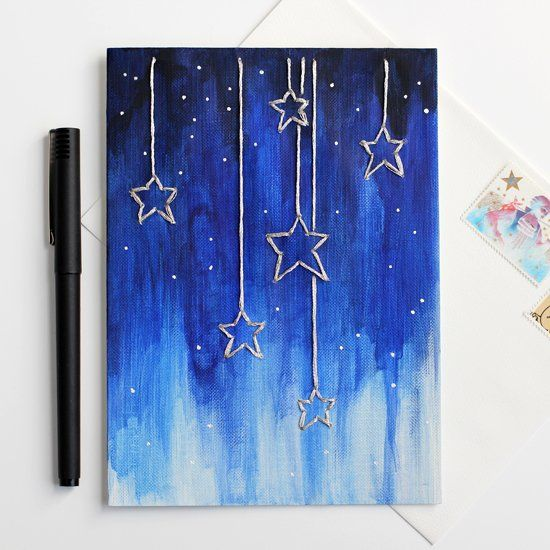 make this dreamy falling stars card for someone awesome its easy and fun - Fun Pictures To Paint