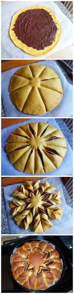 Recipes for small and big kids .....: How to make a floral bread Merenta!