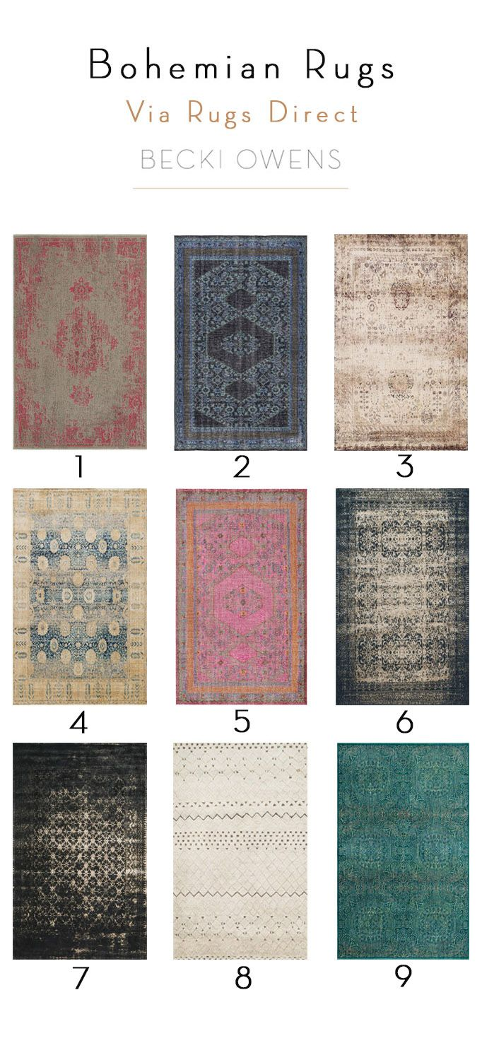 Love a little boho style? Check out some of the prettiest bohemian style rug picks from Becki Owens at Rugs Direct! Which one is your favorite?