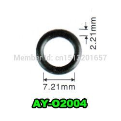84.69$  Buy here - http://alioj7.worldwells.pw/go.php?t=32349560199 - free shipping 1500piecesGood quality o-rings viton injector repair kit  seals for honda (AY-O2004,7.21*2.21mm) 84.69$