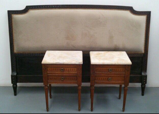 Cabecera somier y mesas de luz luis xvi muebles estilo for Muebles chinos outlet