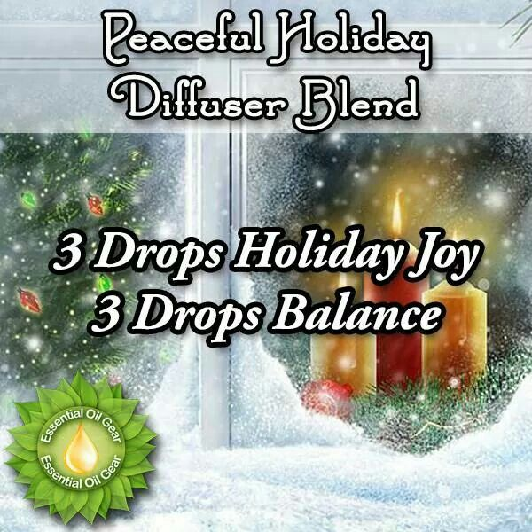 Peaceful holiday diffuser blend