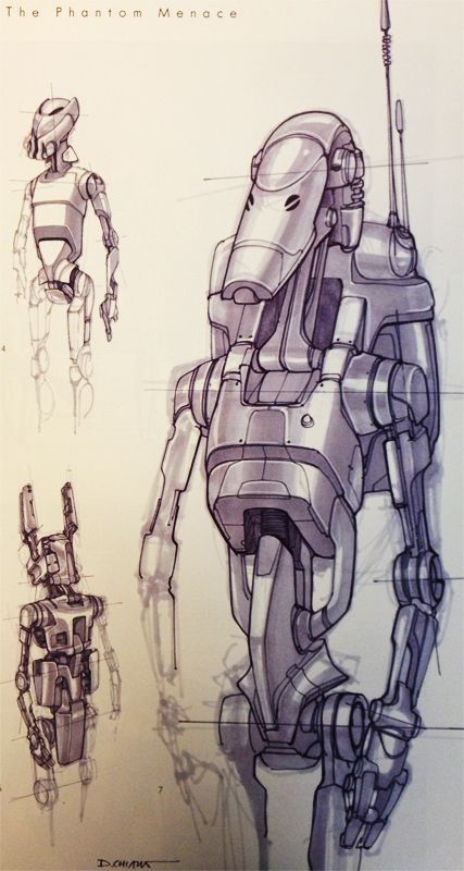 Star Wars - Battle Droid designs by Doug Chiang