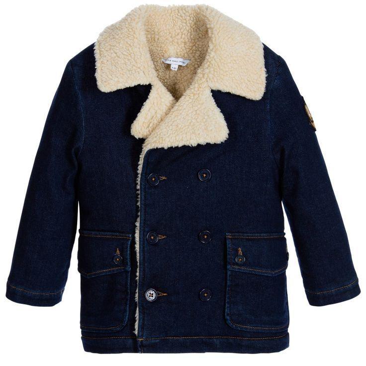 Little Marc Jacobs Boys Blue Denim & Fleece Coat at Childrensalon.com