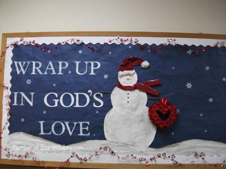 winter bulletin boards | Winter bulletin board for church | Church Bulletin…