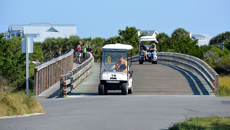 Cart bridge on Bald Head Island, NC