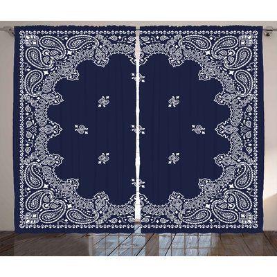 "East Urban Home Ethnic Asian Room Darkening Rod Pocket Curtain Panels Size: 54"" x 84"""