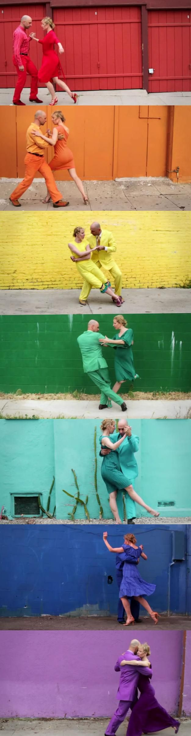 """another creative video from OK GO - """"Skyscrapers"""" #dance #colors #rainbow"""