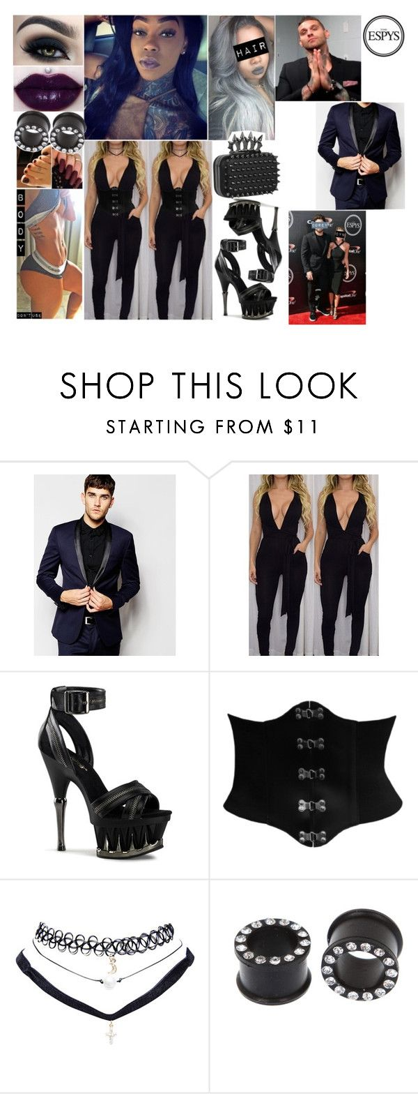 """""""✖️CYN✖️ The Espys 2016 W/ Corey Graves"""" by black-onyxx ❤ liked on Polyvore featuring ASOS, CO and Wet Seal"""