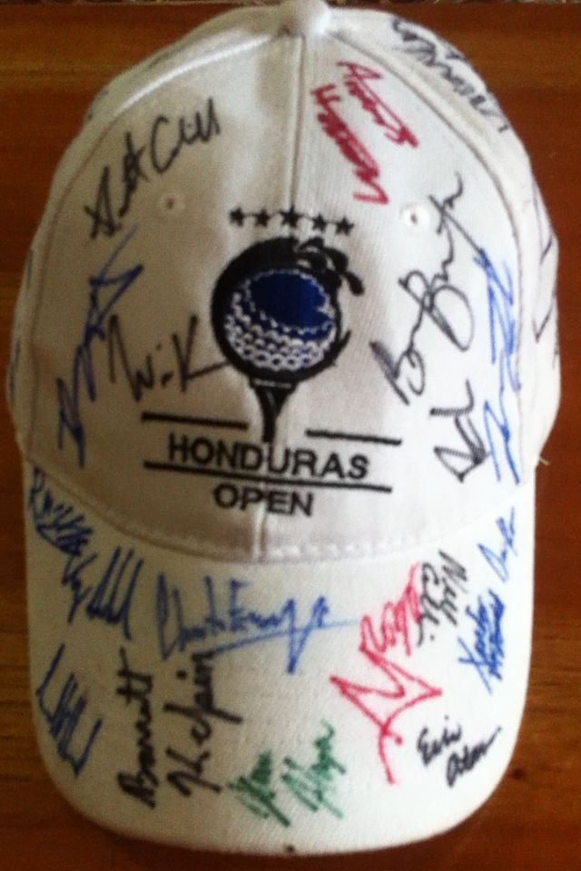 Autografos Golfistas Finalistas PGA Latinoamerica Honduras Open 2016 INDURA Beach Golf & Resort
