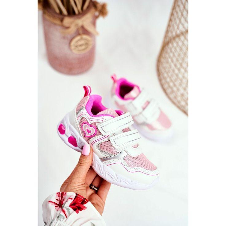 Eve Sportowe Buty Dzieciece Swiecace Na Rzepy Biale Scarlet In 2020 Baby Shoes Shoes Fashion