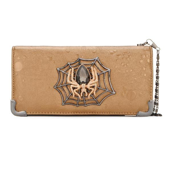 Vintage Spider Jewelry Leather Women Clutch Wallet - US$15.09  women  bags fashion