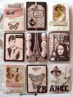 "My Pocket Letters ""Brown & Peach Paris"" @ArtsbyTini"