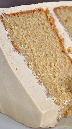 Caramel Cake with Salted Caramel Italian Meringue Buttercream Recipe | Of Batter and Dough