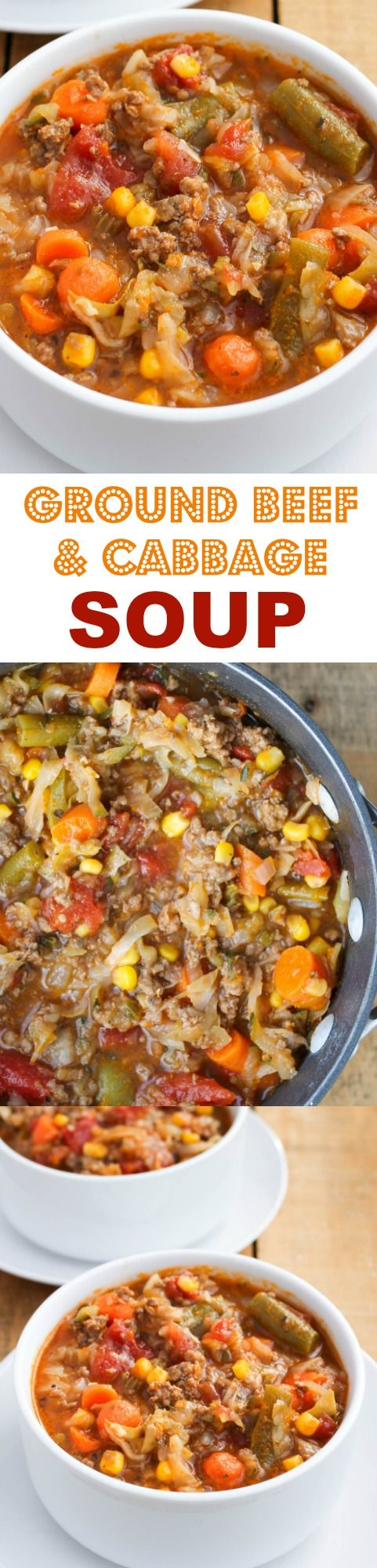 Ground Beef and Cabbage Soup - a quick, easy and budget-friendly soup recipe that's great for using up garden vegetables and frozen produce!