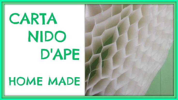 Come fare la Carta Nido / How to make Honeycomb Paper - Arte per Te