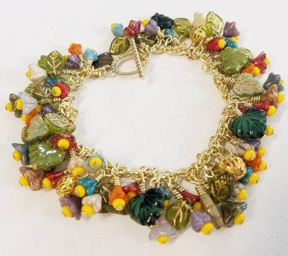 Brass Wire and Glass Bead Set
