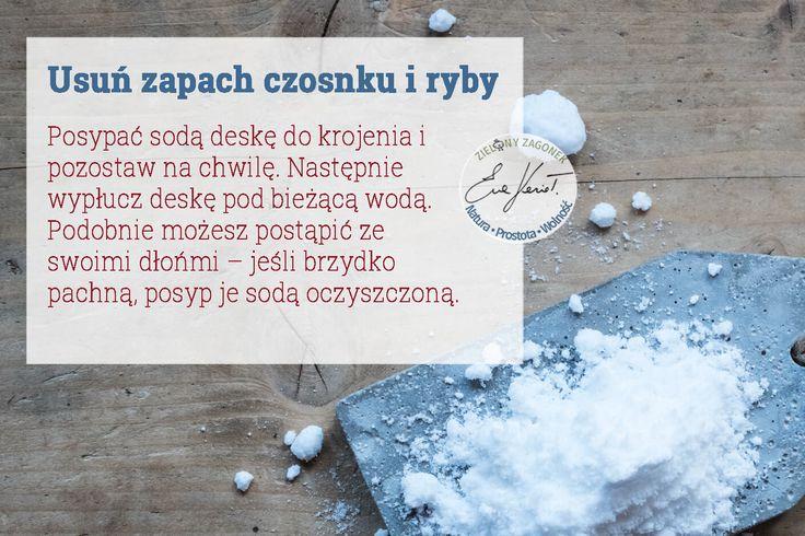 Czy wiesz jak pozbyć się nieprzyjemnego zapachu czosnku, cebuli czy też ryby z deski do krojenia za pomocą najzwyklejszej sody oczyszczonej? Zapraszam na wpis:https://goo.gl/Glq7dy