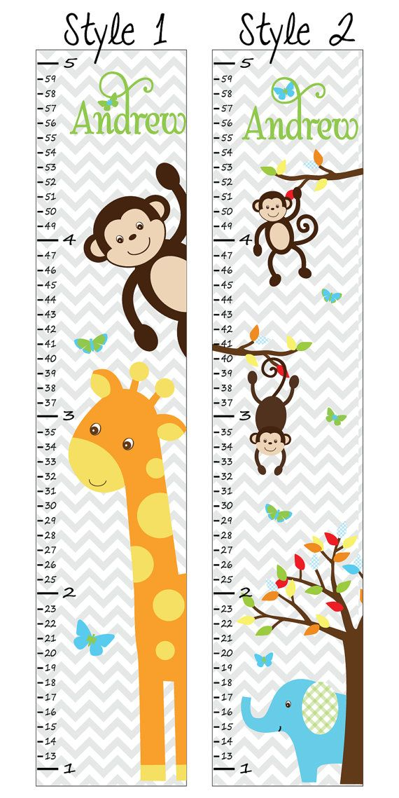 Personalized Growth Chart - Growth Chart Decal - Fabric Growth Chart - Growth Chart for Children - S12 C10 A01