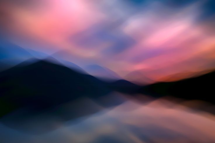 Slocan Lake Sunset 7 - Another abstracted view of Slocan Lake