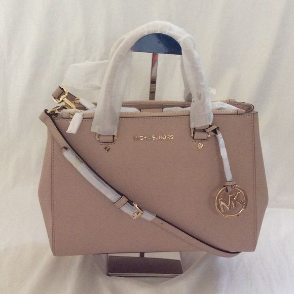 nwt michael kors sutton satchel in blush color new with. Black Bedroom Furniture Sets. Home Design Ideas