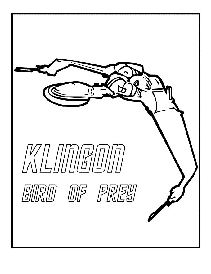 klingon bird of prey coloring pages for kids printable star trek coloring pages for kids - Star Trek Coloring Book