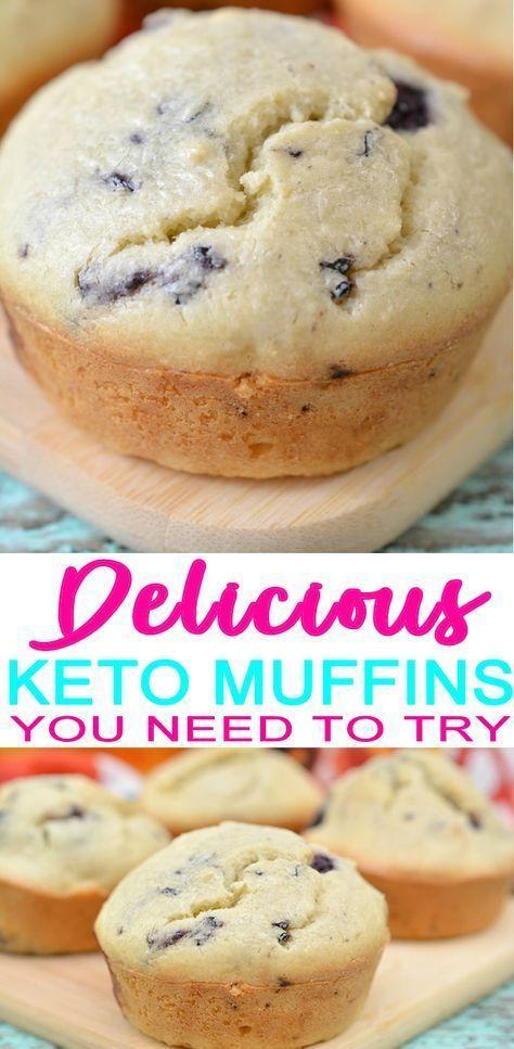 BESTE Keto Muffins! Low Carb Blackberry Muffin Idea - Schnelles und einfaches Rezept für eine ketogene Diät - Keto-freundlich