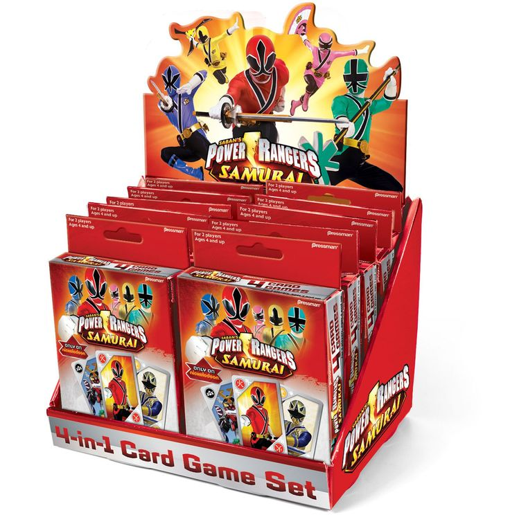 Power Rangers Samurai 4 in 1 Card Game, 85593