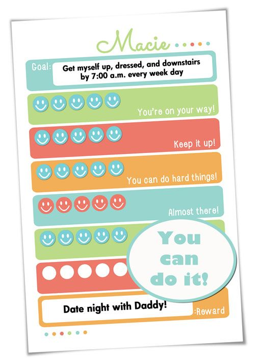 Goal Setting Free Printable: Help kids turn short-term goals into long-term habits (comes in two color schemes) {OneCreativeMommy.com} #goalsetting #happynewyear