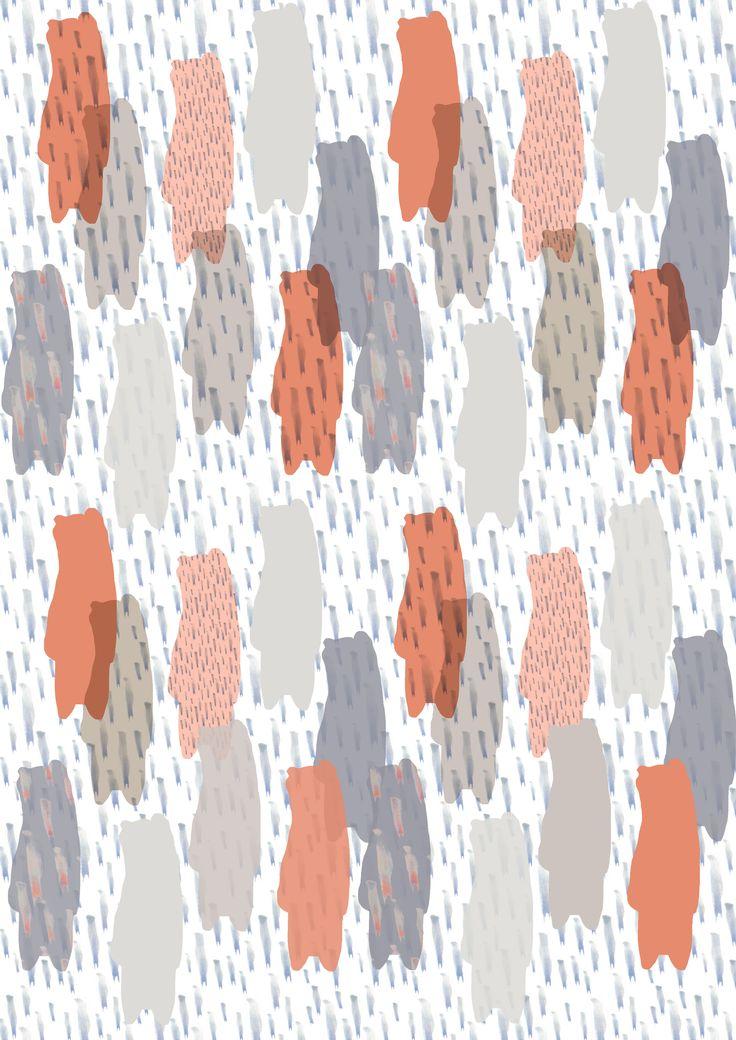 Peach Bear Camouflage-Pattern /Wunderwuz