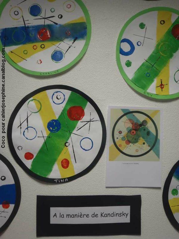 ronds, flocons, bandes, Kandinsky