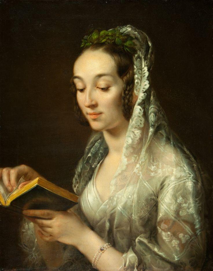 Rafał Hadziewicz - Portrait of Artist's Wife in a Wedding Dress (ca. 1835)