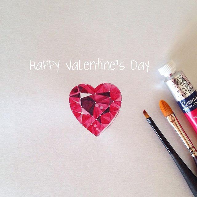❤️✨Happy Valentine's Day! #jewelryrendering #jewelrydesign #design #drawing #rendering #illustration #fashionillustration #details #jewelrydrawing #delicates #painting #artwork #art #gem #jewelryillustration #colormixing #watercolor #painting #draw #fashion #finejewelry #highjewelry #WinsorandNewton #joias #ilustracao #ilustracaodemoda #designdejoias #gemas #aquarelle #aquarela #valentinesday