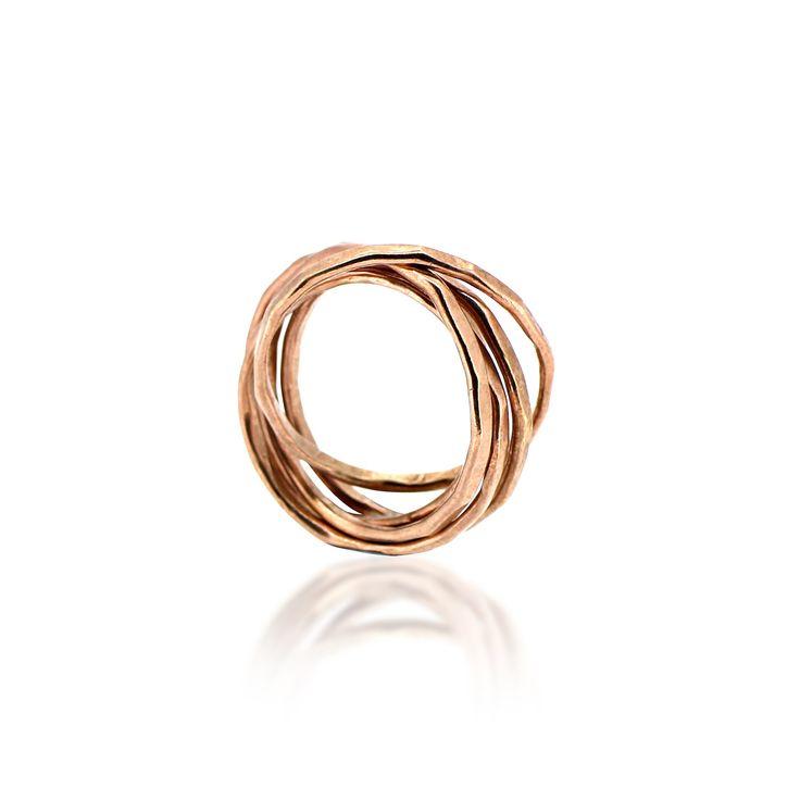 Five Strand Ring Rose Gold | Maya Magal London | Wolf & Badger