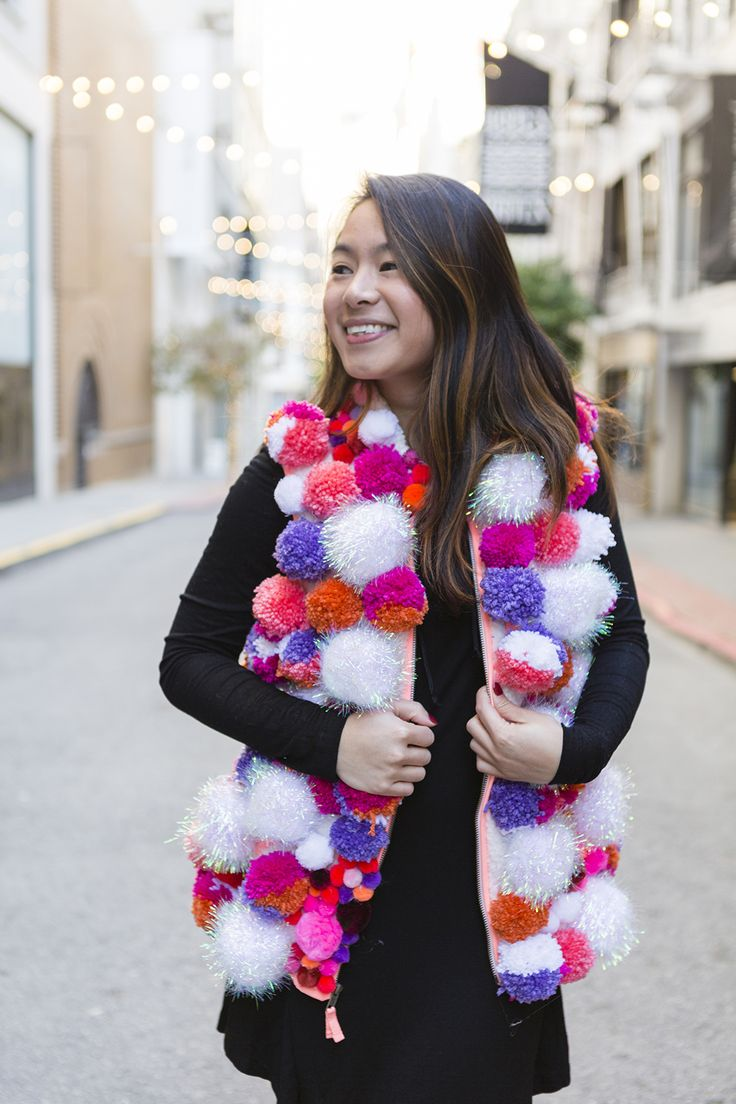 Wow everyone at your ugly Christmas sweater party + make this DIY pom-pom vest.