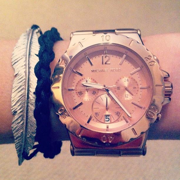 Michael Kors watch & Daisy Knights feather bracelet