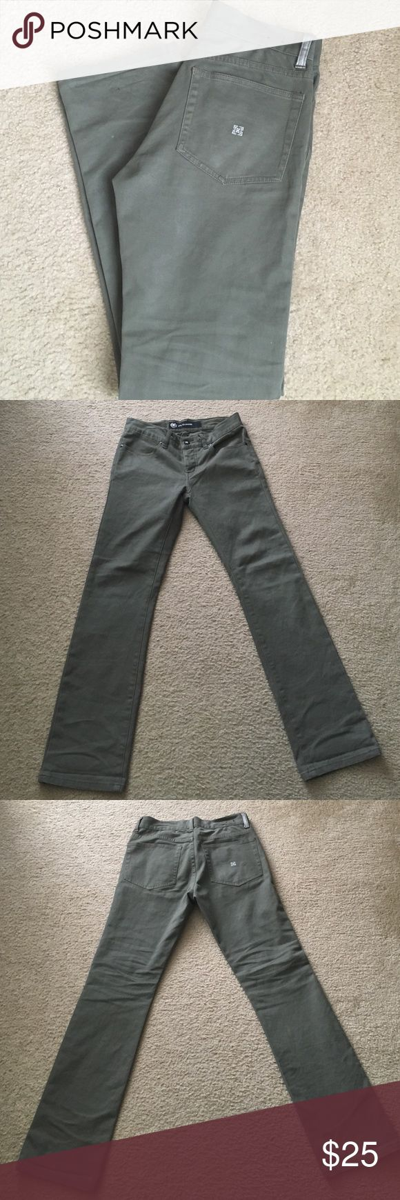 KR3W Erik Ellington Edition Sage like color Krew Twill jeans. Erik Ellington edition. Button fly. Slim fit. 29 inseam. KR3W Jeans Slim