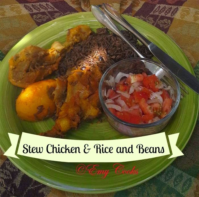 El Yucateco: Mouth Watering Stew Chicken & Rice and Beans #shop #SauceOn #CollectiveBias http://emycook.blogspot.com/2014/08/el-yucateco-stew-chicken-rice-and-beans.html