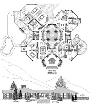 Hurricane proof house with courtyard in the middle ♡