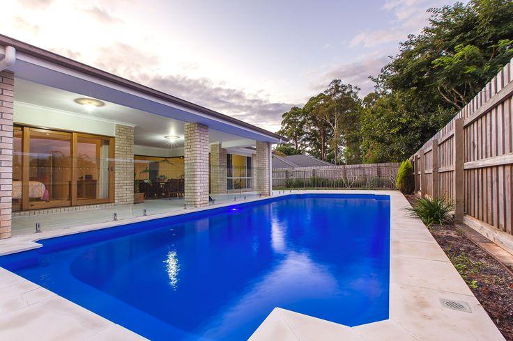 Narellan Pools Sunshine Coast- Federation in Bermuda Blue. Beautiful. #NarellanPoolsInspiration