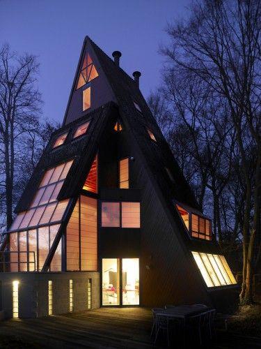 A little crazy but still....post-modern pyramid house by van den berghe
