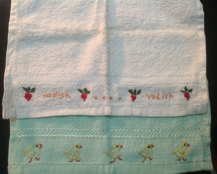 Embroidery for my baby.... Little washcloth...