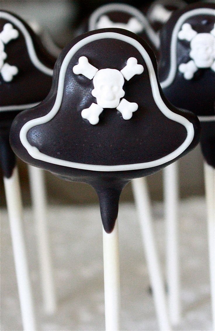 Pirate Hat Cake Pops