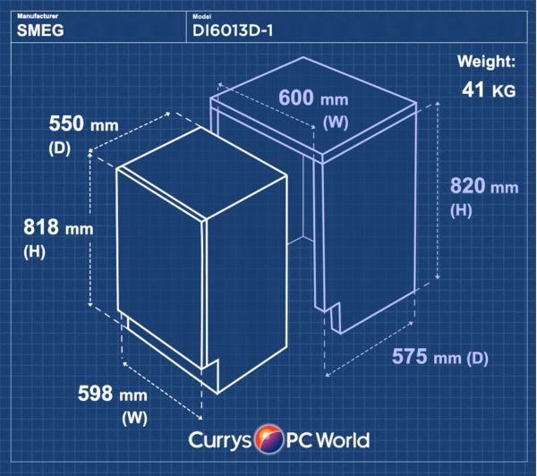 SMEG DI6013D-1 Full-size Integrated Dishwasher