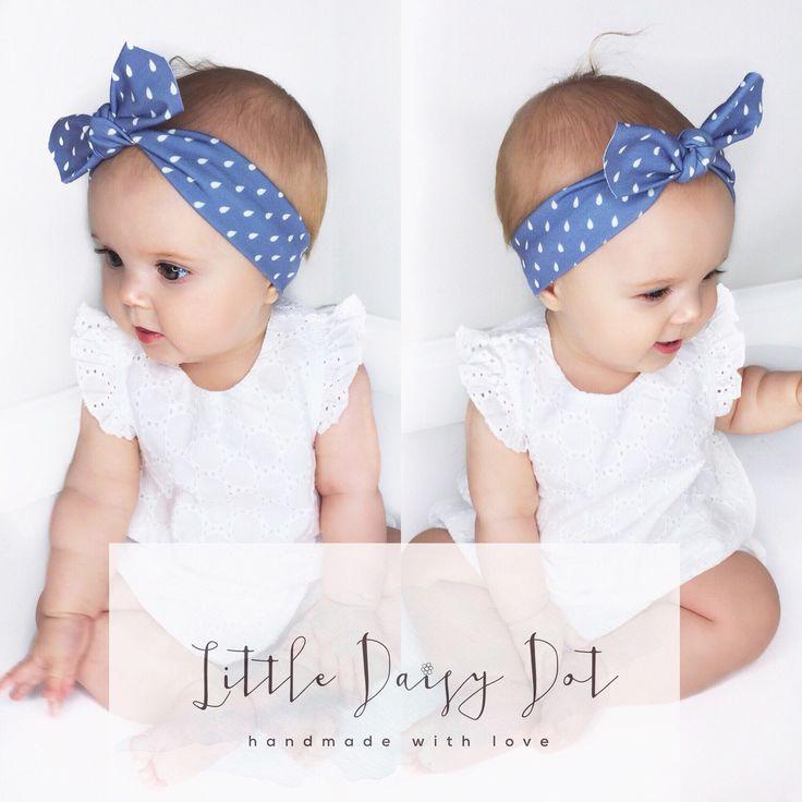 Blue Baby Headband / Baby Headband / Girl Baby shower gift / Toddler Headband / Infant Headband / Pastel Baby Headband by LittleDaisyDotShop on Etsy https://www.etsy.com/uk/listing/292235331/blue-baby-headband-baby-headband-girl