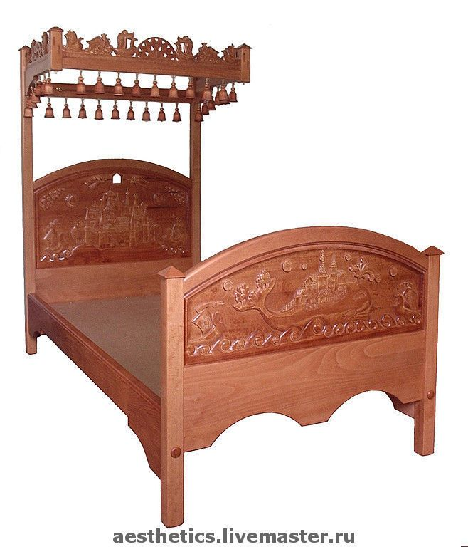 Handmade Bed children four-poster Visiting Tales - baby bed, children's room