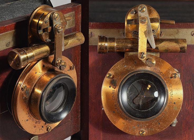 "B&L iris diaphragm shutter marked: ""Bausch & Lomb Optical Co. Rochester, New York 435 Pat. May 15, '88"""